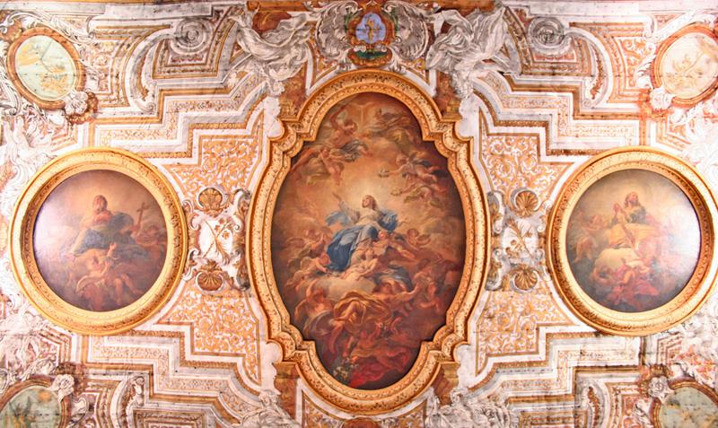 Il soffitto della cattedrale cattedrale di sorrento for Soffitto della cattedrale di legno