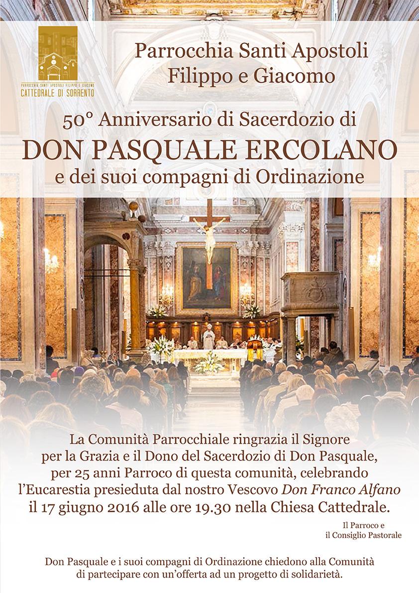 50mo anniversario di sacerdozio di don Pasquale e dei suoi compagni di ordinazione
