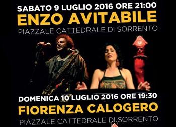 Enzo Avitabile e Fiorenza Calogero in concerto