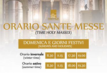 Orario sante messe 2017